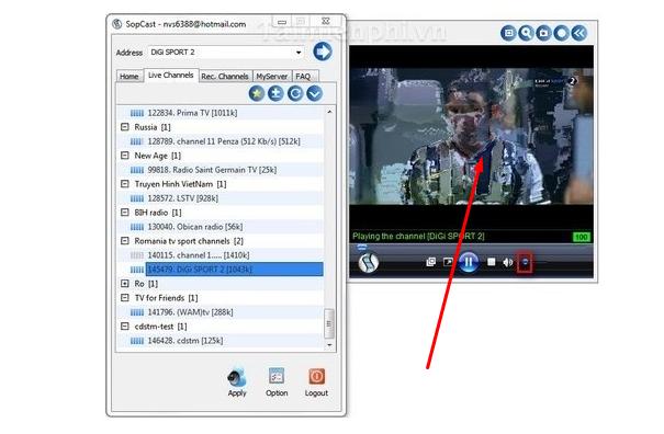 Sopcast Không Tự Động Bắt Link Xem Bóng Đá